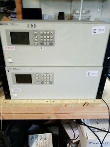 Lot Of 2 Hp Agilent 86062c Lightwave Optical Switch Tested With Two Power Cords