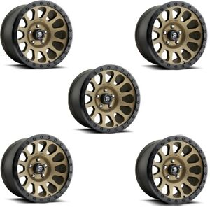 17 Bronze Wheels Rims Fuel Vector Black Ring Method Rhino 5