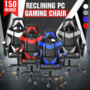 Ergonomic Executive Office Chair Gaming Chair Computer Desk High Back Recliner