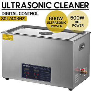 Industry 30l Ultrasonic Cleaner Cleaning Equipment Liter Heated W Timer Heater