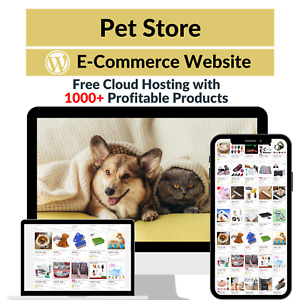Pet Store Amazon Business Affiliate Dropshipping Website With 1000 Products