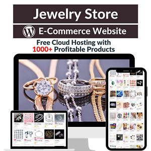Jewelry Store Amazon Business Affiliate Dropshipping Website With 1000 Products