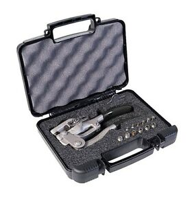 Roper Whitney 5 Jr Hand Punch Kit Includes Case With 7 Punch Die Sets