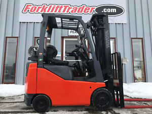 2015 Toyota 8fgcu15 3000lb Cushion Tire Forklift With Side Shift