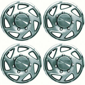 New Set Of 4 16 Hubcaps Wheel Covers For 1996 2012 Ford Van F150