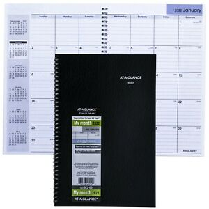 2022 At a glance Dayminder Sk2 00 Monthly Planner 7 7 8 X 11 7 8