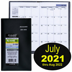 At a glance Dayminder Ay53 00 July 2021 Thru Aug 2022 Monthly Pocket Planner