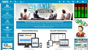 Ready Made Reseller Webhosting Website Style 3002 Free Billing System Included