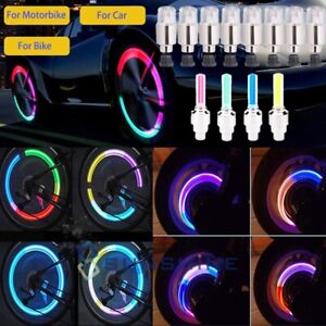 4 8 16pcs Led Wheel Tire Tyre Valve Stem Caps Neon Light For Car Motorcycle Bike