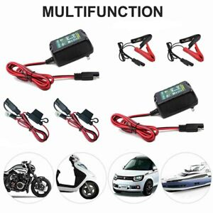 2x Automatic Battery Charger Motorcycle Trickle Float For Tender Maintainer 12v