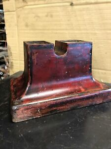 Antique Cast Iron Base Hit Miss Steam Engine Model Original Patina Nice
