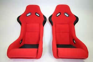 2 Pair F1spec Type 3 Red Cloth Spg Vios Gias Cuga Digo Racing Seat Jdm