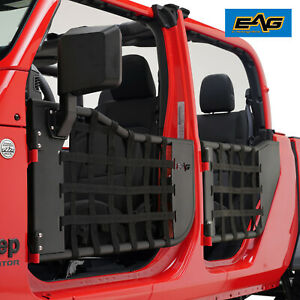 Eag Matrix Tube Door Armor With Side View Mirror Fit For 20 21 Jeep Gladiator Jt