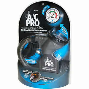 A c Pro R 134a Professional Grade Recharge Hose And Gauge