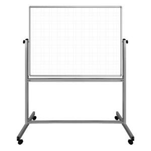 48 X 36 Mobile Magnetic Double sided Ghost Grid Whiteboard