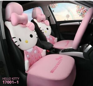 Hello Kitty Cartoon Car Seat Covers Set Universal Car Interior 3 Colors