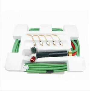 Top Quality Jewelry Gas Torch Welding Soldering Little Torch Full Hoses 5 Tips