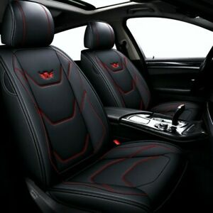 Car 5 seat Leather Seat Cover Cushion For Toyota Camry Corolla Rav4 Front rear