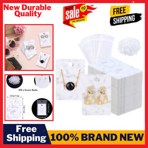 800 Pieces Marble Earring Necklace Display Card Holder Set 200 Pieces Jewelry