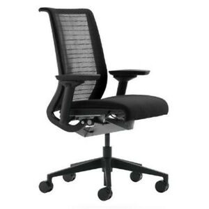 Steelcase Think Chair Black Mesh Back Loaded