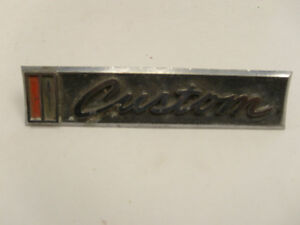 1967 68 Chevy Truck Custom Emblem Sign Metal Script Logo Deco Trim Vintage Cool