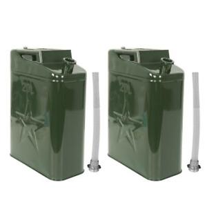 5 Gallon Gal 20l Liter Jerry Can Backup Steel Tank Us Army Green