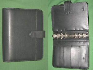 Compact 1 0 Black Faux Leather Franklin Covey Planner Binder Organizer 2234