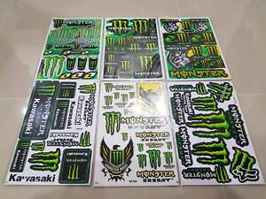Rockstar Energy Motorcycle Supercross Bike Helmet Moto Racing Stickers Motocross