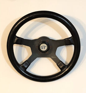 Raid Dino Black Leather Steering Wheel Made In Italy Grant Gt