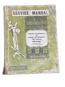 Service Manual International Construction Equipment 1971