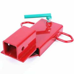 2 Clamp On Forklift Hitch Receiver Pallet Fork Trailer Towing Adapter Insert
