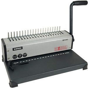 Sd1202 Binding Machine With Combs Set 19 Hole Comb Binder Punching Or