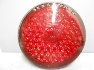 Vintage 3 1 4 Red Yankee Reflex Auto truck Tail Light Lamp Glass Lens 256