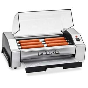 Hot Dog Roller Sausage Grill Cooker Machine 6 Hot Dog Capacity Commercial A
