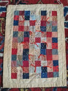 Doll Quilt Antique Vintage American Block Patchwork