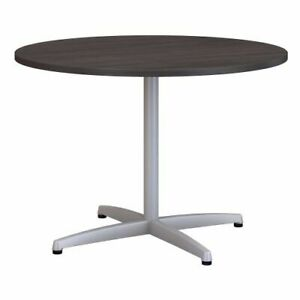 42w Round Conference Table W Metal X Base Bsh