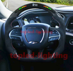 The Best Led Performance Carbon Fiber Steering Wheel For Dodge Hellcat 2015 2019