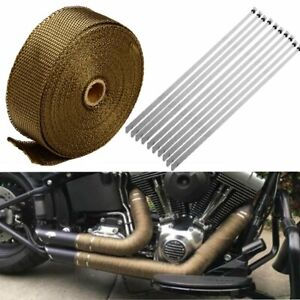 2 x 50ft Titanium Manifold Header Exhaust Turbo Intake Mesh Heat Wrap