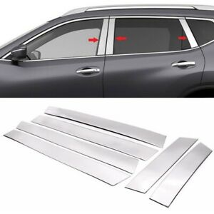 For 2008 2013 Nissan Rogue Stainless Steel Chrome Window Pillar Post Trims