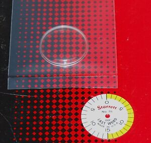 New Starrett 711 Last Word Replacement Crystal And 001 Shaded Dial Face