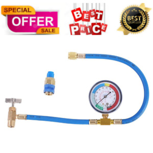Jifetor Ac Charge Hose With Gauge For R134a Auto Air Conditioning Recharge Kit