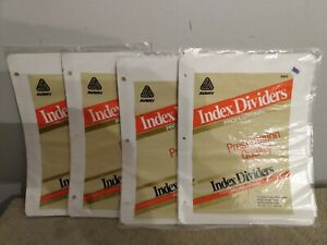 Avery 81011 Index Dividers Tabs Professional Presentation 4 Packs 20 Sheets
