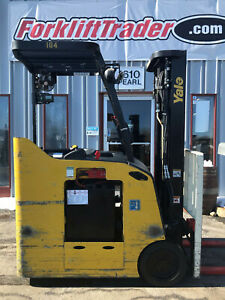 2014 Yale Esc040acn36te088 4000lb Cushion Tire Electric Forklift Lifttruck