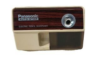 Vtg Panasonic Electric Pencil Sharpener Kp 110 Auto stop Retro Tested Works