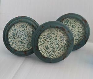 Shabby Chic Metal Glass Dome Drawer Cabinet Pull Knobs New Vintage