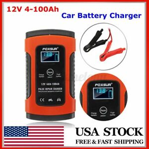 Automatic Pulse Battery Charger Maintainer Repair 12v 5a Motorcycle Agm Car