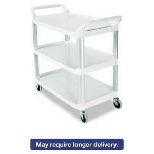 Rubbermaid Commercial Open Sided Utility Cart Three shelf 40 5 086876133424