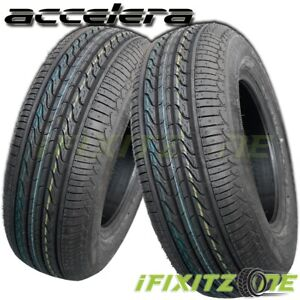 2 New Accelera Eco Plush 225 60r15 96v All season 45000 Mileage Warranty Tires