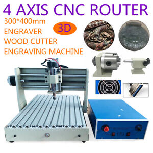 400w 4axis Cnc 3040 Router Engraving Machine Milling Parallel Type Diy Cutter rc
