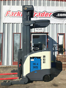 1999 Crown Rr5020 45 4000lb Electric Stand Up Forklift Lifttruck